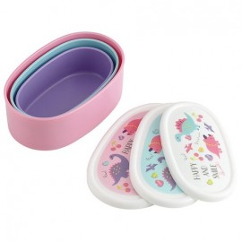 HAPPY AND SMILE Antibacterial Sealed Container 3P Set