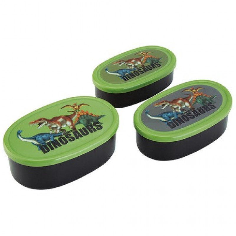 Dinosaurs Antibacterial Sealed Container 3P Set