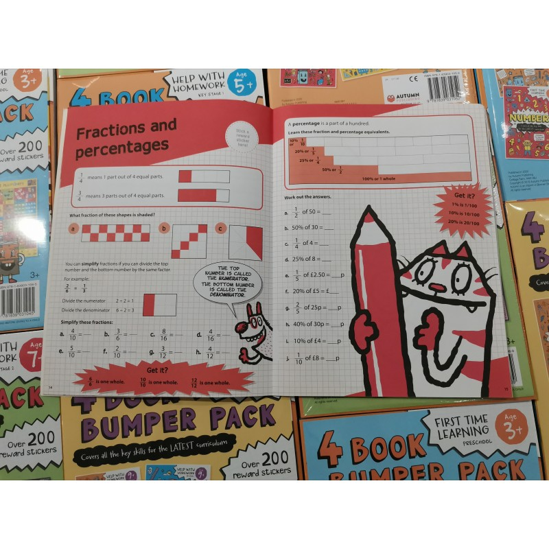 Essential Workbooks Packs 9+ with Flag Encyclopedia pencils (2B) 12 pcs