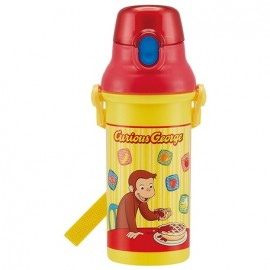 Back to School: Curious George One touch bottle 480ml + Placemat