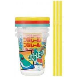 Plarail Tumbler with straw 230ml 3 pieces