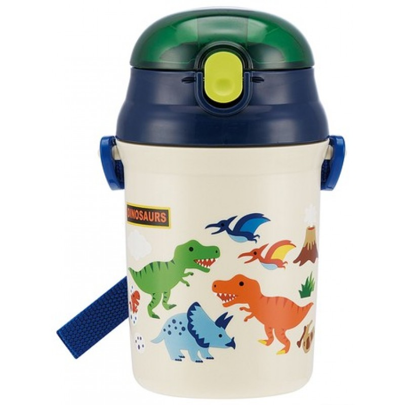DINOSAURS One touch Straw Bottle 340ml