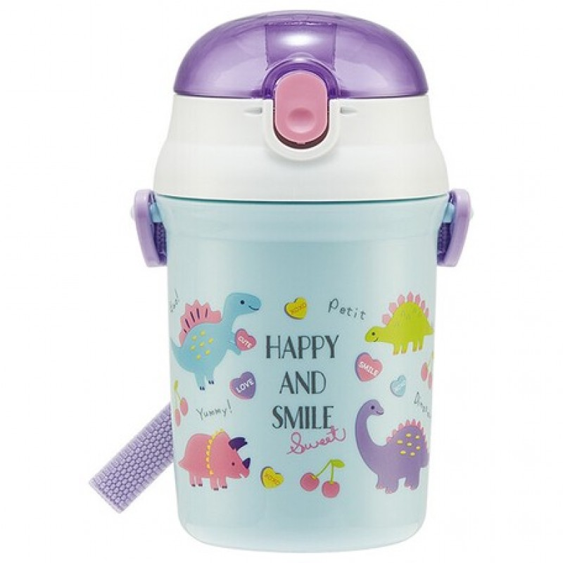 HAPPY AND SMILE One touch Straw Bottle 340ml