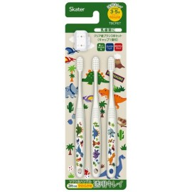 DINOSAURS Transparent Children's toothbrush 3P (with cover)