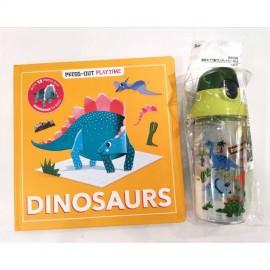 Press-out Playtime Dinosaurs + Skater Dinosaur Bottle 480ml